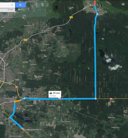 trasa rowerowa Supraśl Białystok